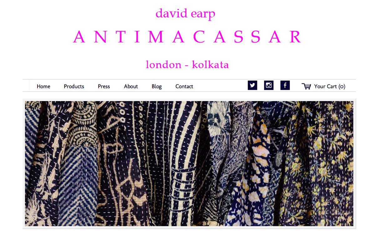 Alison Saracena designs - ANTIMACASSAR V1