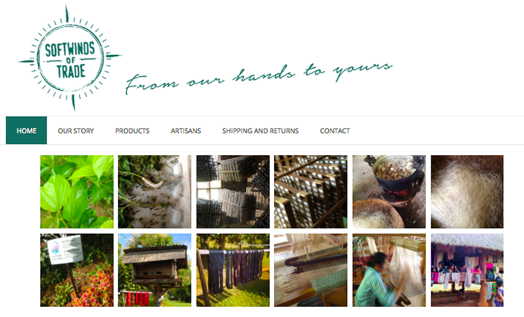 Alison Saracena designs - website SOFTWINDS OF TRADE