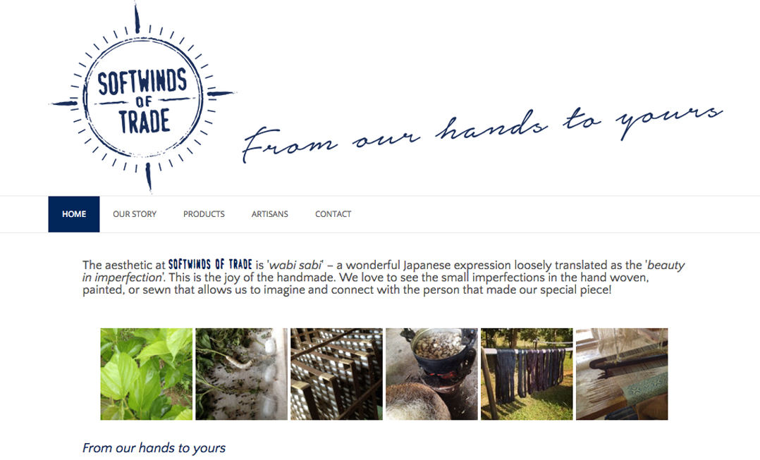 Alison Saracena designs - website SOFTWINDS OF TRADE