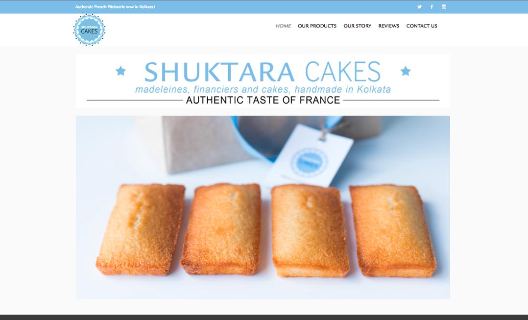 Alison Saracena designs - website SHUKTARA CAKES
